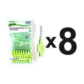 TePe X-Soft Μεσοδόντια Βουρτσάκια Πράσινα 0.8mm
