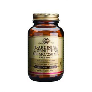Solgar L-Arginine L-Ornithine 500/250mg 50caps