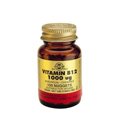 Solgar Vitamin B12 1000mg 100 Υπογλώσσια Δισκία