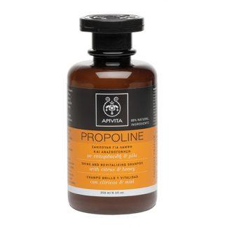 Apivita Propoline Shampoo Σαμπουάν Λάμψης & Αναζωογόνησης με Εσπεριδοειδή & Μέλι 250ml
