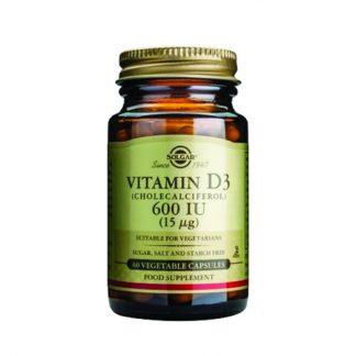 Solgar Vitamin D3 600IU 15μg 60vegicaps