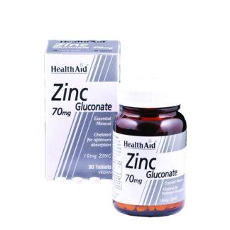 Health Aid Zinc Gluconate 70mg 90tabs