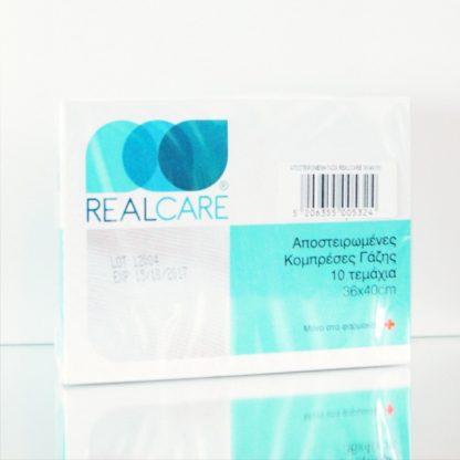 Real Care Αποστειρωμένες Γάζες Βάμβακος σε Φάκελο 36Χ40 10τμχ