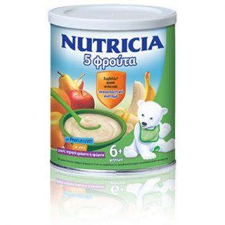 Nutricia Κρέμα 5 Φρούτα 300gr