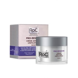 RoC Pro-Renove Anti-Ageing Unifying Cream Rich 50ml - Κρέμα Αντιγήρανσης για Ομοιόμορφη όψη, Πλούσια Υφή
