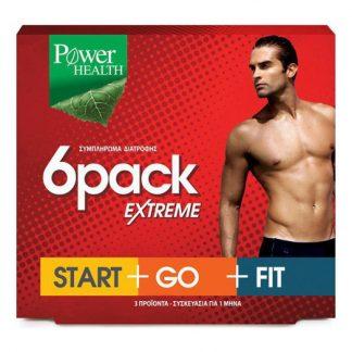 Power Health 6 Pack Extreme Τριπλή Συνδιαστική Αγωγή για ένα Μήνα 90caps