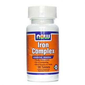 Now Iron Complex with Folic Acid 100Vtabs