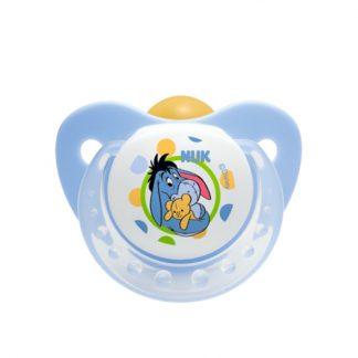 NUK Trendline Disney Μπλέ Πιπίλα από Καουτσούκ με Κρίκο 0-6m (10.725.879)