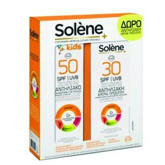 Solene Παιδικό Αντηλιακό Γαλάκτωμα SPF50 150ml & Δώρο Κρέμα Προσώπου Ultra Satin για Ματ Όψη Μικτές-Κανονικές Επιδερμίδες SPF30 50ml