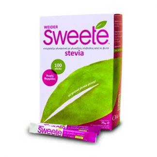 Sweete Επιτραπέζιο Γλυκαντικό Στέβιας 100 sticks x 0,75gr