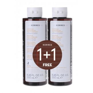 Korres Shampoo για Βαμμένα Μαλλιά με Ηλίανθο & Τσάι του Βουνού 2x250ml