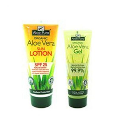 Optima Aloe Vera Sun Lotion SPF25 200ml & Gel Aloe Vera 100ml