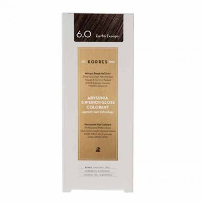 Korres Abyssinia Superior Gloss Colorant Βαφή Μαλλιών 6,0 Ξανθό Σκούρο