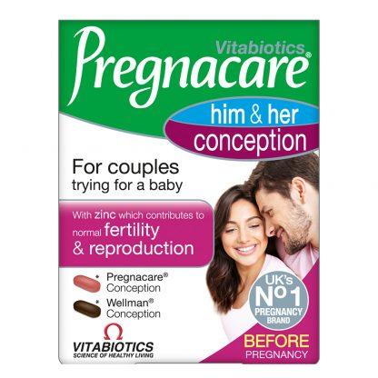 Vitabiotics Pregnacare His & Her Conception Dual Pack 2x30tabs