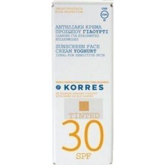 Korres Αντηλιακή Κρέμα Προσώπου Γιαούρτι με Χρώμα SPF30 50ml