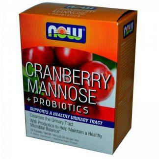 Now Cranberry, Mannose & Probiotics 24τμχ
