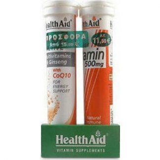 Health Aid A to Z Active Multi CoQ10 20s + Vitamin C 500mg 20 αναβράζοντα δισκία