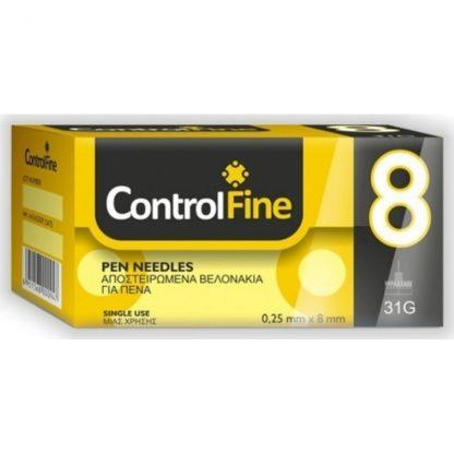 ControlFine Pen Needles 8mm 31G 100τμχ