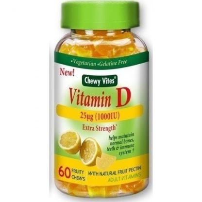 Vican Chewy Vites Adults Vitamin D 60 μασώμενες ταμπλέτες