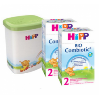 Hipp Bio Combiotic 2 2X600gr & Δώρο Κουτί Αποθήκευσης Γάλακτος