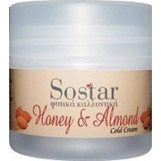 Sostar Αντιγηραντική Κρέμα Προσώπου και Λαιμού με Μέλι & Αμυγδαλέλαιο 50ml