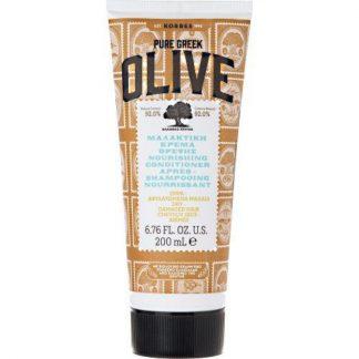 Korres Pure Greek Olive Μαλακτική Κρέμα Θρέψης για Ξηρά & Αφυδατωμένα Μαλλιά 200ml