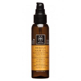 Apivita Rescue Oil Λάδι Θρέψης & Επανόρθωσης για τα Μαλλιά με Αργκάν & Ελιά 100ml