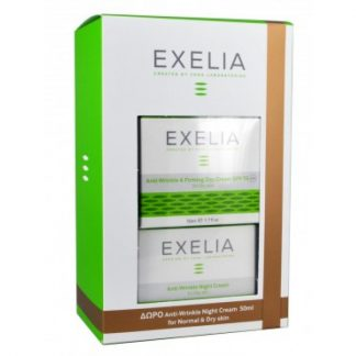 Exelia Set Anti-Wrinkle & Firming Day Cream SPF15 για Λιπαρές Επιδερμίδες 50ml & Δώρο Anti-Wrinkle Night Cream για Λιπαρές Επιδερμίδες 50ml