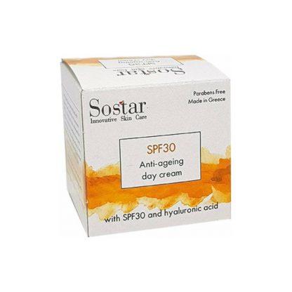 Sostar Focus Αντιγηραντική Κρέμα Προσώπου με Υαλουρονικό Οξύ SPF30 50ml