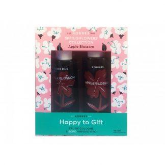 Korres Happy to Gift Apple Blossom με Eau de Cologne 100ml και ΔΩΡΟ Αφρόλουτρο Apple Blossom 250ml