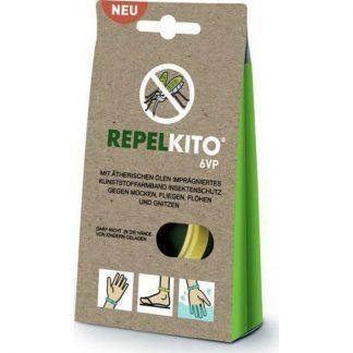 Repelkito 6VP Απωθητικό Βραχιόλι για Κουνούπια, Ψύλλους, Μύγες, και Σκνίπες Λευκό 1τμχ