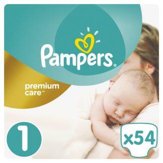 Pampers Premium Care Πάνες Μέγεθος 1 (Newborn) 2-5kg 54 Πάνες