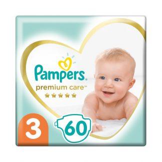 Pampers Premium Care Πάνες Μέγεθος 3 (Midi) 5-9kg 60 Πάνες