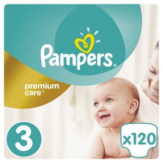 Pampers Premium Care Πάνες Μέγεθος 3 (Midi) 5-9kg 120 Πάνες