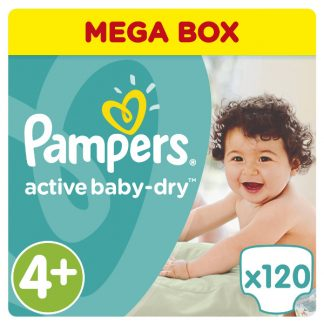 Pampers Πάνες Active Baby-Dry Μέγεθος 4+ (Maxi+) 9-16kg 120 Πάνες