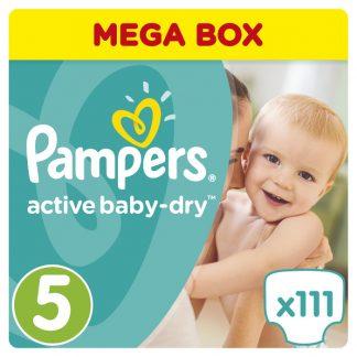 Pampers Πάνες Active Baby-Dry Μέγεθος 5 (Junior) 11-18Kg 111τμχ
