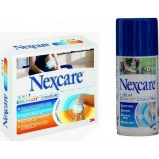 Nexcare Παγοκύστη/Θερμοφόρα Comfort 10X27cm & Δώρο Nexcare Cold Spray 150ml