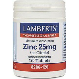 Lamberts Zinc 25mg (Citrate) 120tabs