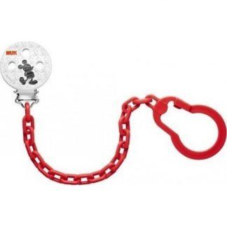 NUK Κόκκινη Αλυσίδα Πιπίλας Disney για το Ασφαλές Κρέμασμα της Πιπίλας (10.256.312)