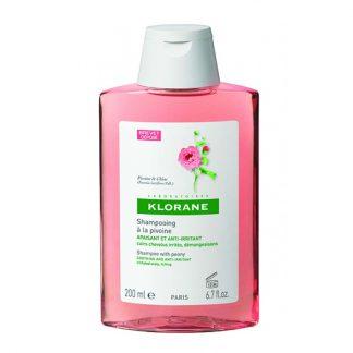 Klorane Shampoo Pivoine για Ευαίσθητο και Ερεθισμένο Τριχωτό 200ml