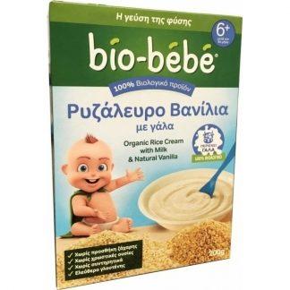Bio-Bebe Ρυζάλευρο Βανίλια με Γάλα 200gr