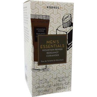 Korres Men's Essentials Άρωμα Mountain Pepper, Bergamot, Coriander 50ml & ΔΩΡΟ Aftershave 125ml