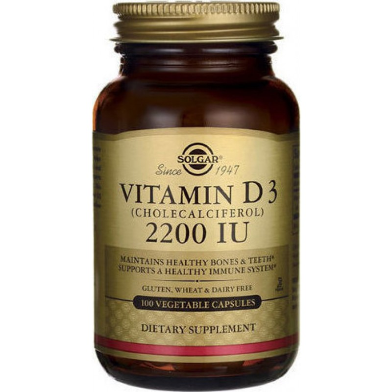 Solgar Vitamin D3 2200IU 55μg 100caps