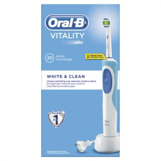 Oral-B Vitality White + Clean Ηλεκτρική Επαναφορτιζόμενη Οδοντόβουρτσα