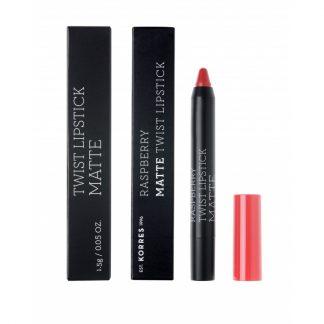 Korres Raspberry Matte Twist Lipstick Imposing Red 1,5gr