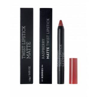 Korres Raspberry Matte Twist Lipstick Ruby Red 1,5gr