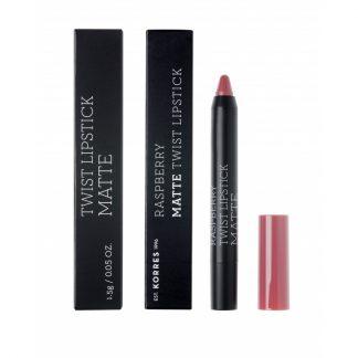 Korres Raspberry Matte Twist Lipstick Misty Rosebush 1,5gr