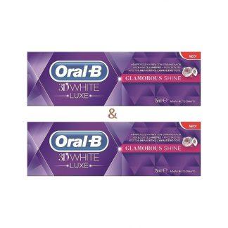 Oral-B 3D White Luxe Glamorous Shine 2X75ml