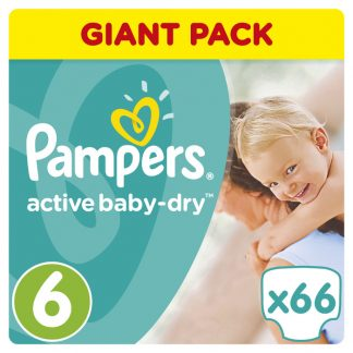Pampers Πάνες Active Baby-Dry Μέγεθος 6 (Extra Large) 15+ kg 66 Πάνες