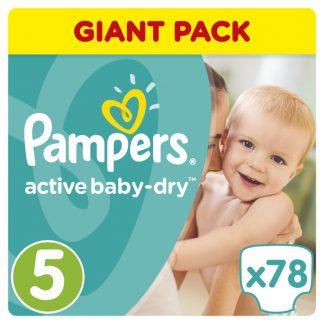 Pampers Πάνες Active Baby-Dry Μέγεθος 5 (Junior) 11-18kg 78 Πάνες
